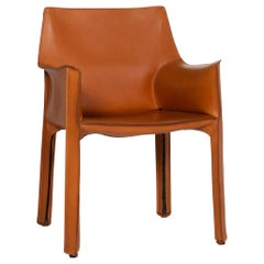 Cassina Model 413 Leather Chair Cognac