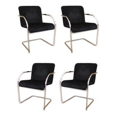 Cassina Modern Chromed Metal Dining Chairs