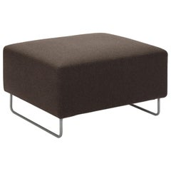 Grey/Brown Wool Cashmere Blend Nest Ottoman, Cassina