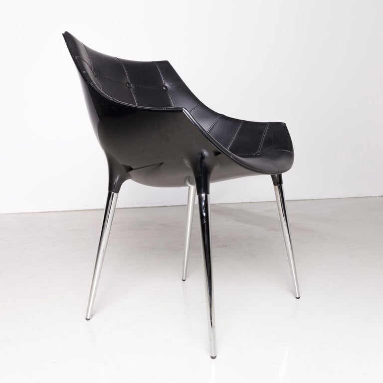 Contemporary Cassina Passion Leather Armchair Black by Philippe Starck