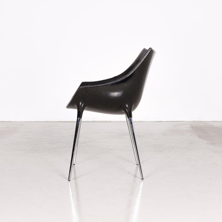 Cassina Passion Leather Armchair Set Black by Philippe Starck  4