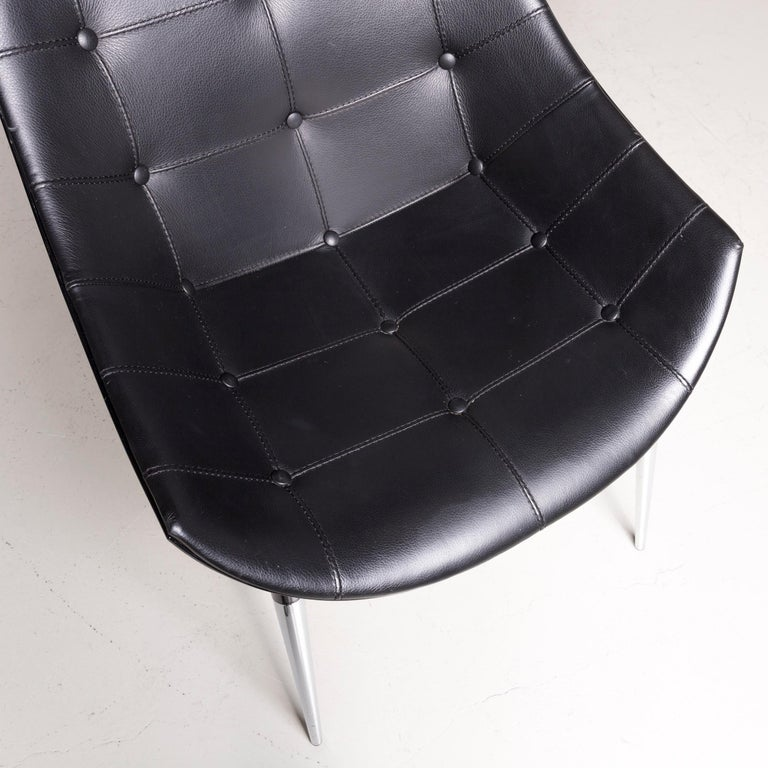 Cassina Passion Leather Armchair Set Black by Philippe Starck  In Good Condition In Cologne, DE