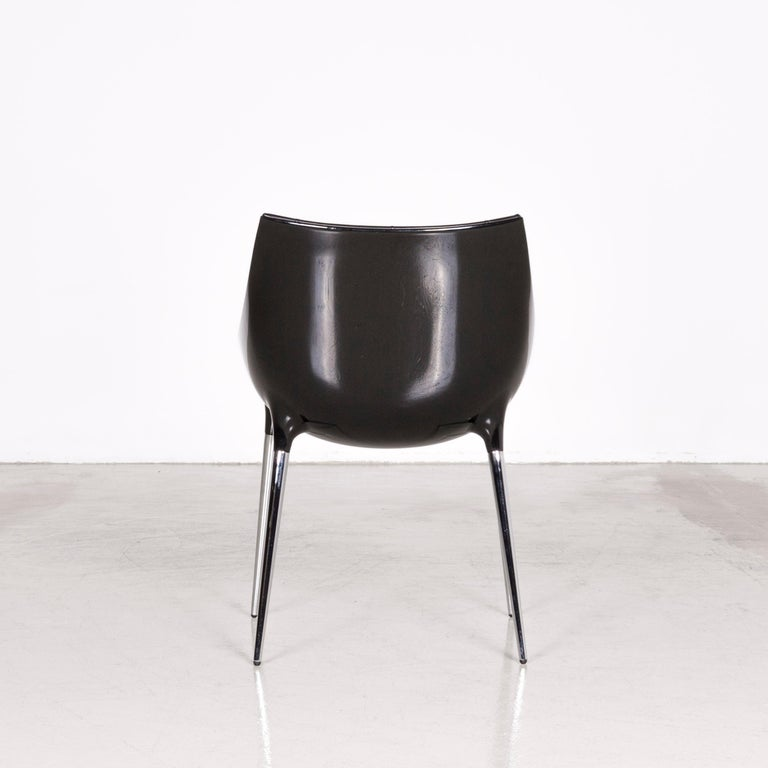Cassina Passion Leather Armchair Set Black by Philippe Starck  3