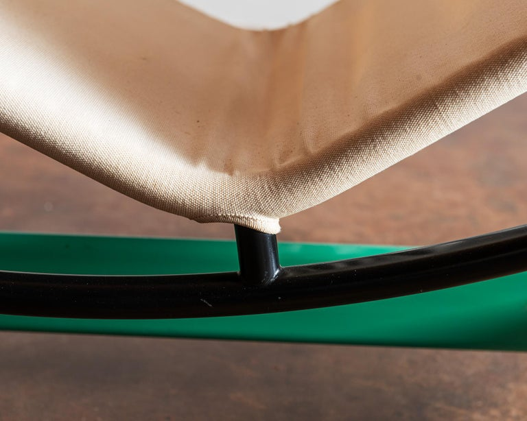 Cassina Re-edition Le Corbusier LC4 Chaise with Green Base 1