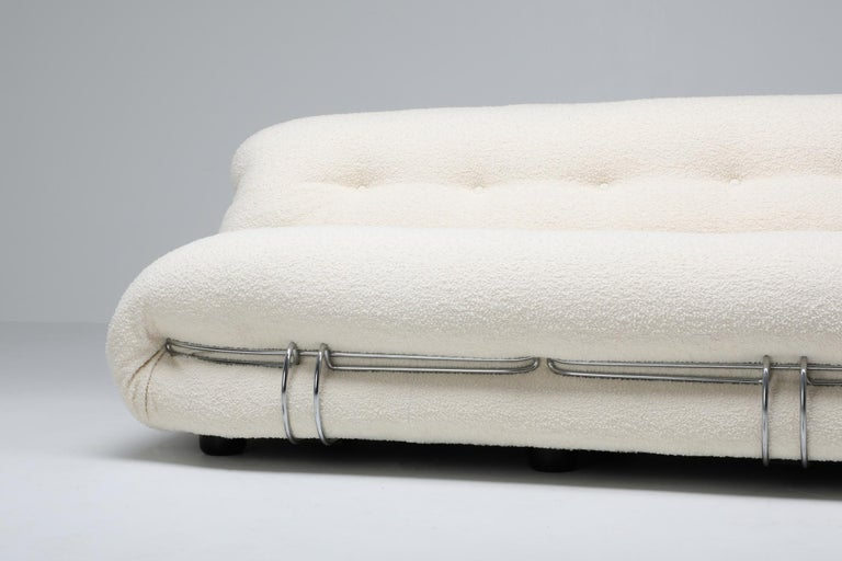 Cassina 'Soriana' Bouclé Sofa by Afra and Tobia Scarpa For Sale 2