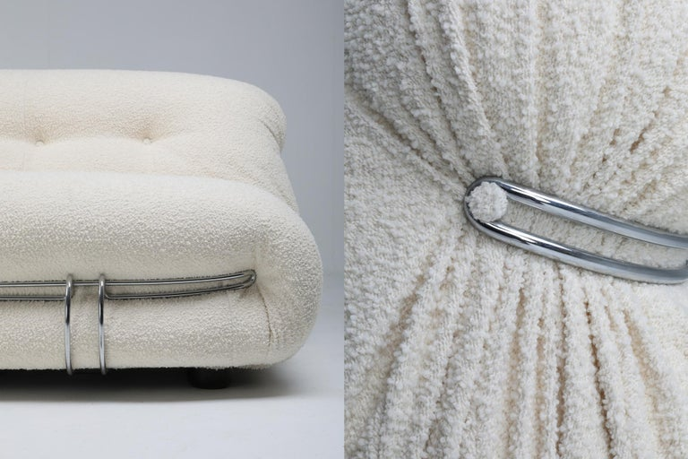 Cassina 'Soriana' Bouclé Sofa by Afra and Tobia Scarpa For Sale 3