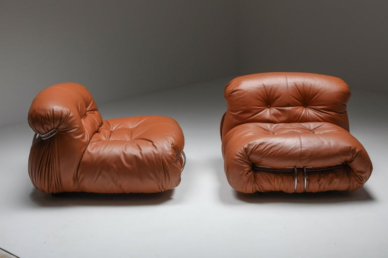 Post-Modern Cassina 'Soriana' Lounge Chairs by Afra and Tobia Scarpa For Sale