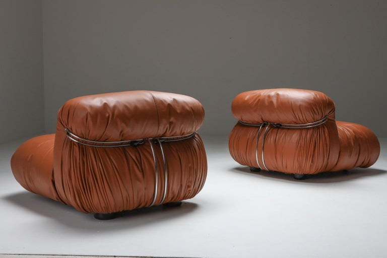 Italian Cassina 'Soriana' Lounge Chairs by Afra and Tobia Scarpa For Sale