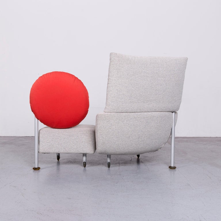 Cassina Topkapi Designer Fabric Sofa Grey Two-Seat Couch 5