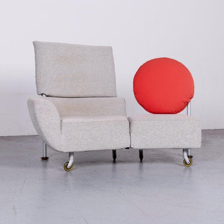 Bauhaus Cassina Topkapi Designer Fabric Sofa Grey Two-Seat Couch