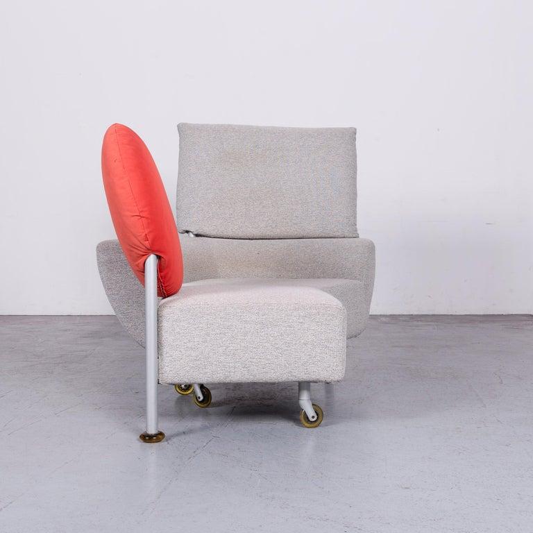 Cassina Topkapi Designer Fabric Sofa Grey Two-Seat Couch In Good Condition In Cologne, DE