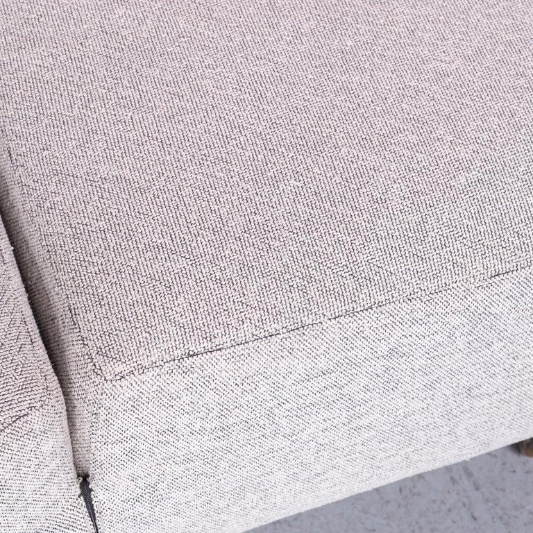 Cassina Topkapi Designer Fabric Sofa Grey Two-Seat Couch 1