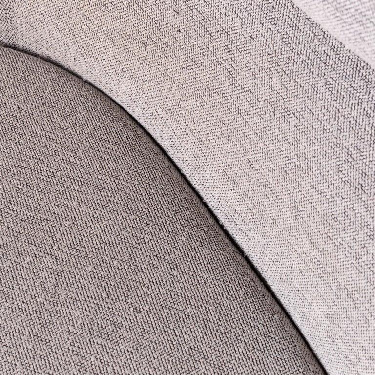 Cassina Topkapi Designer Fabric Sofa Grey Two-Seat Couch 2