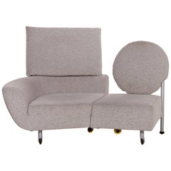Cassina Topkapi Fabric Sofa Gray Two-Seat Function Relax Function Lounger