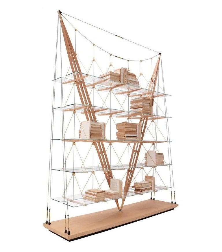 Italian Cassina Veliero Bookcase in Ash by Franco Albini For Sale