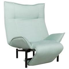 Cassina Veranda Designer Fabric Armchair by Vico Magistretti Turquoise Chair