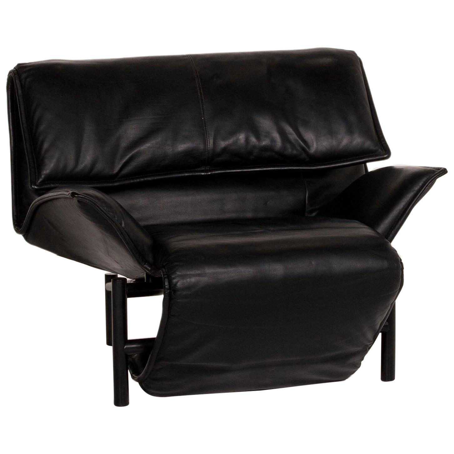 Cassina Veranda Leather Armchair Black Relax Function