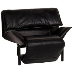 Cassina Veranda Leather Armchair Black Relax Function