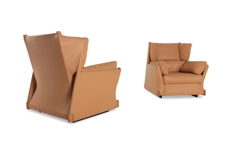 Post-Modern Cassina 'Viola d'amore' Armchairs by Piero Martini For Sale