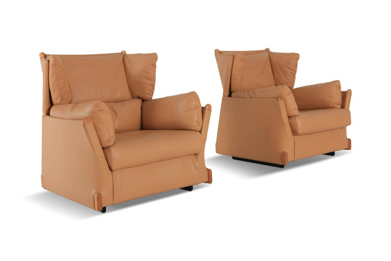 Cassina 'Viola d'amore' Armchairs by Piero Martini For Sale 1