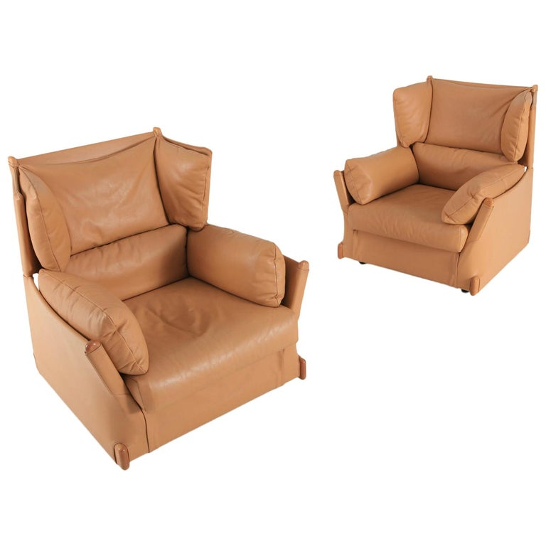 Cassina 'Viola d'amore' Armchairs by Piero Martini For Sale