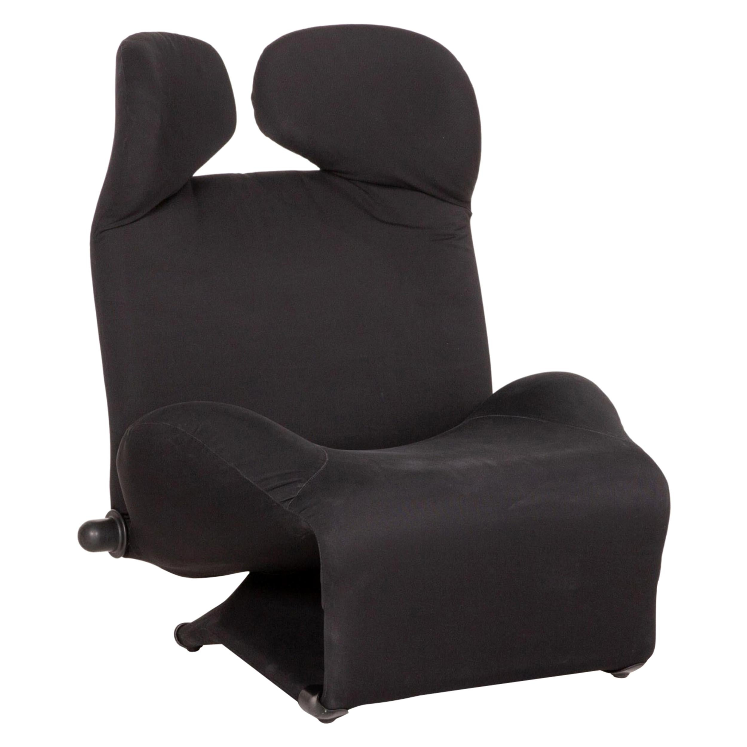 Cassina Wink Fabric Armchair Black