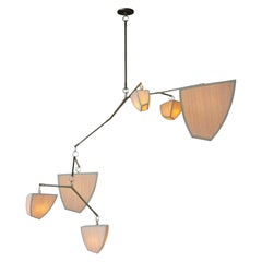 Cassiopeia 6 Bamboo 'ABCDEF' Chandelier is Handmade by Andrea Claire Studio