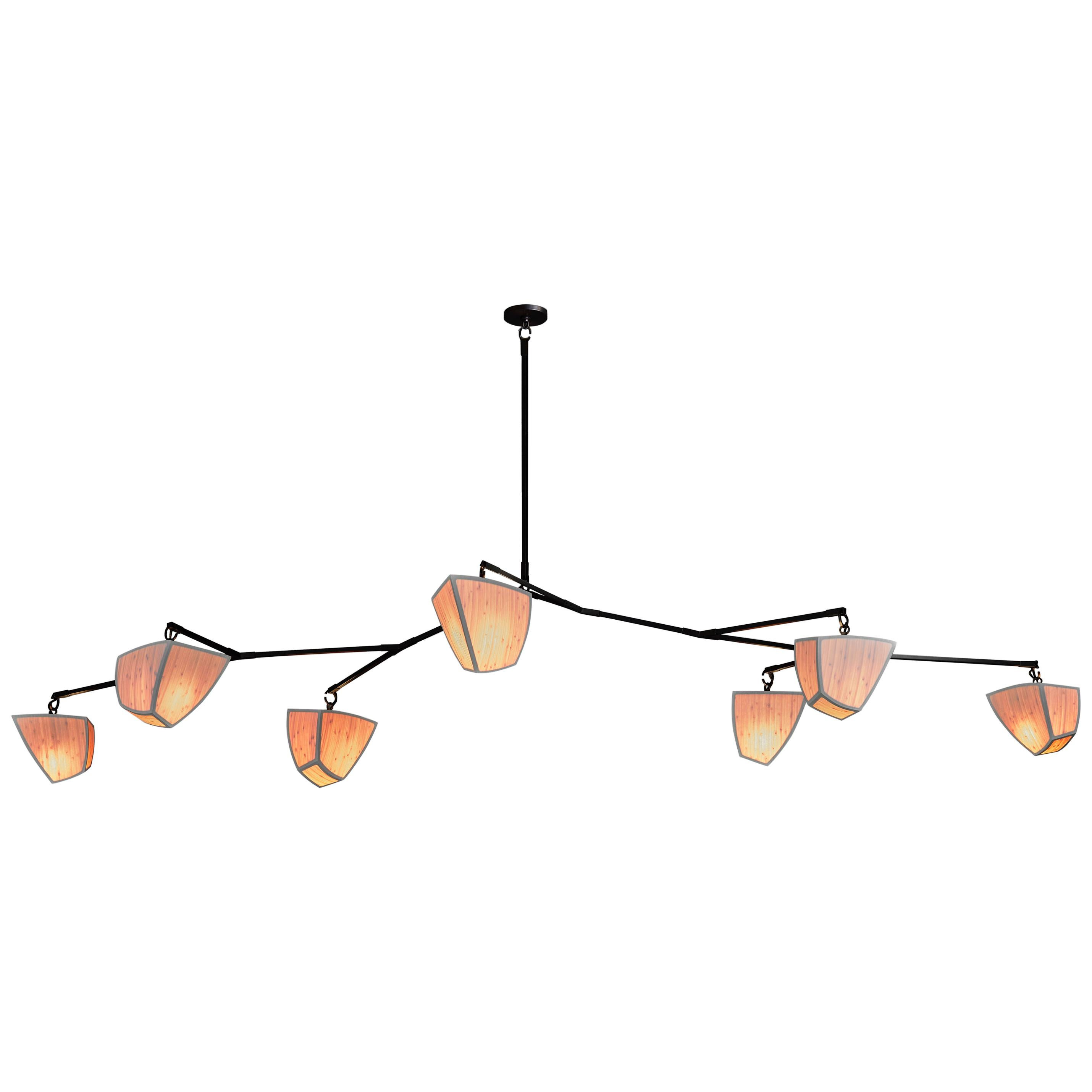 Cassiopeia 7 Bamboo ((2A3B2C) - mobile chandelier by Andrea Claire Studio