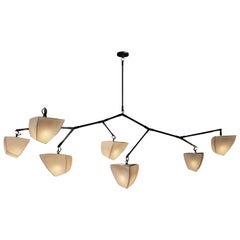 Cassiopeia 7 V3 Porcelain, mobile chandelier handmade by Andrea Claire Studio