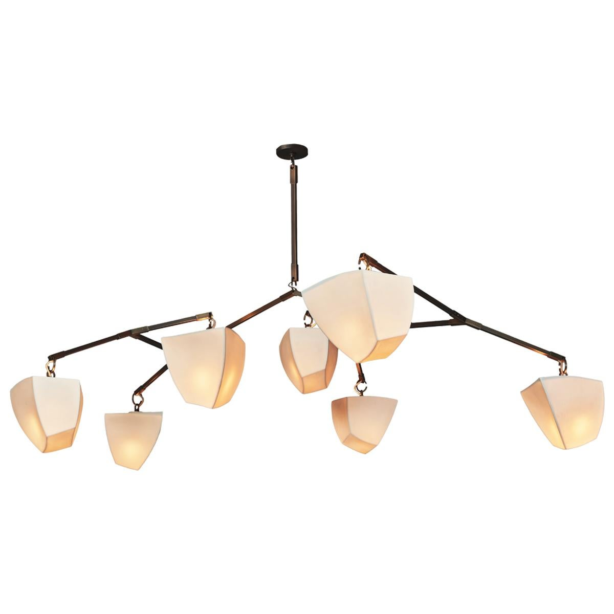 Cassiopeia 7 V2 Porcelain mobile chandelier by Andrea Claire Studio