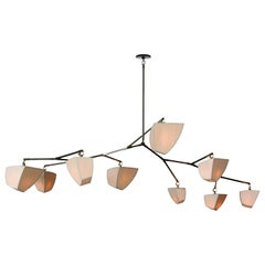 Cassiopeia 9 Bamboo (2A3B2C2D) Mobile Chandelier by Andrea Claire Studio