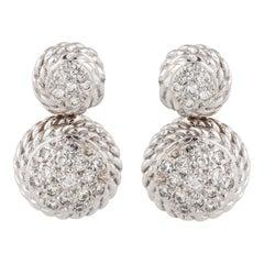 Cassis White Gold Diamond Earrings