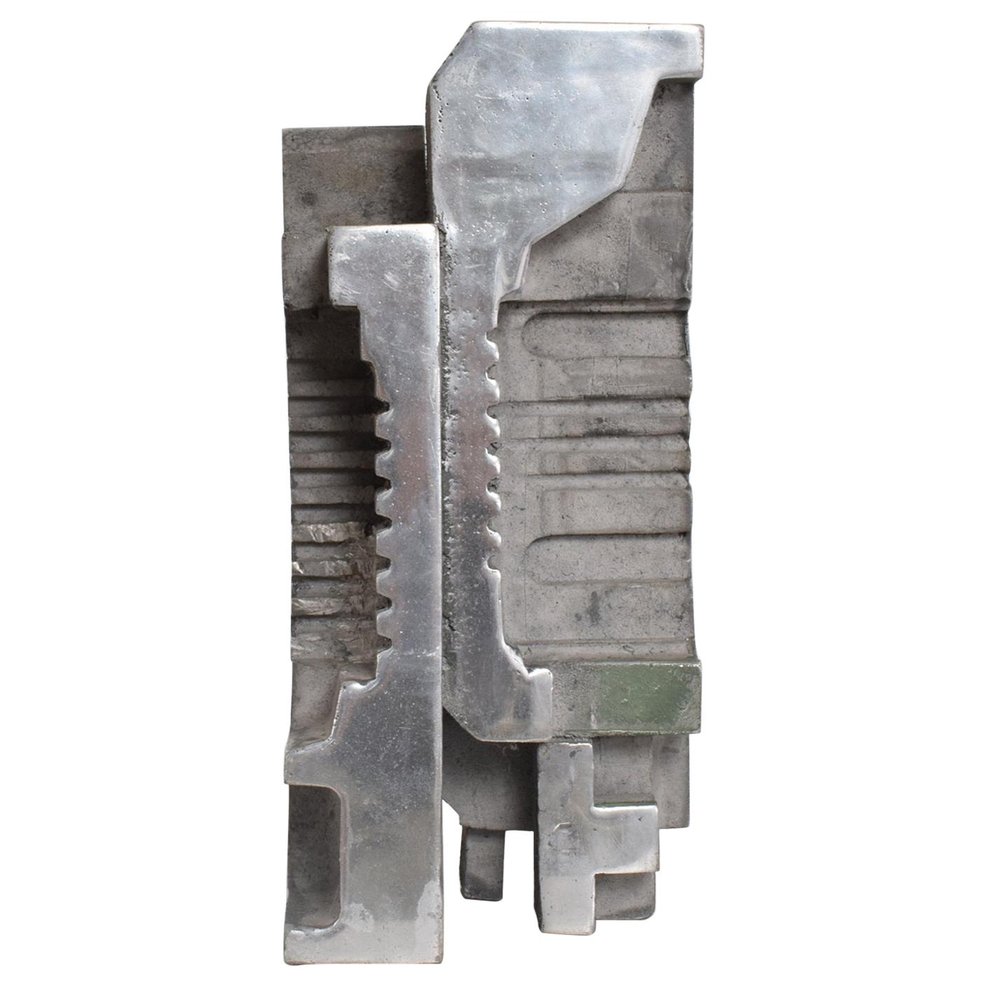 Cast Aluminum Brutalist Sculpture by Myrna M. Nobile Mid-Century Modern, 1969