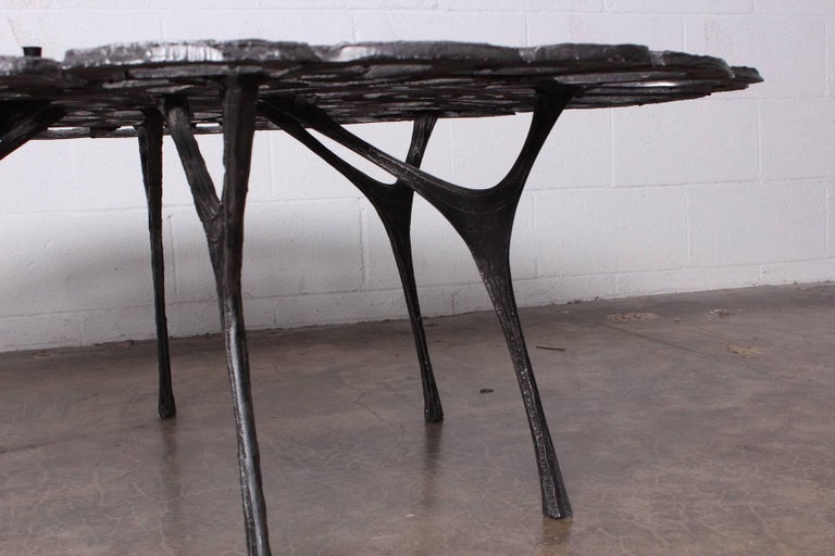 Cast Aluminum Coffee Table by Donald Drumm For Sale 8