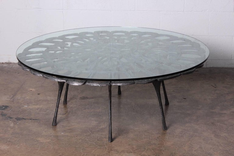 Cast Aluminum Coffee Table by Donald Drumm For Sale 9