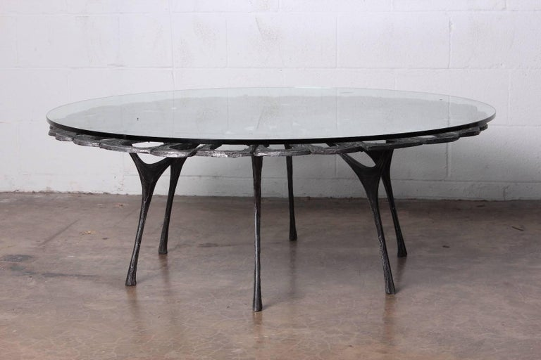 Cast Aluminum Coffee Table by Donald Drumm For Sale 11