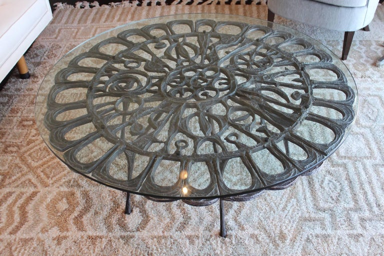 Mid-20th Century Cast Aluminum Coffee Table by Donald Drumm For Sale