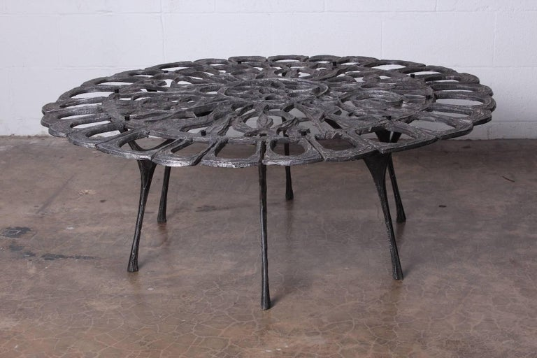 Cast Aluminum Coffee Table by Donald Drumm For Sale 1
