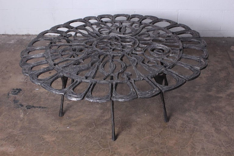Cast Aluminum Coffee Table by Donald Drumm For Sale 2