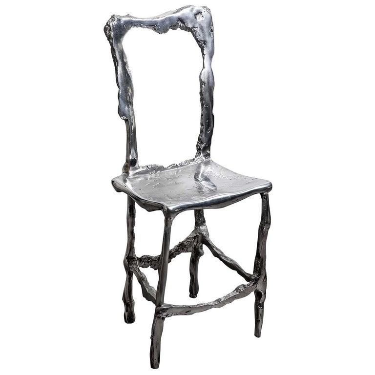 Cast Aluminum Scultura Decorative Chair For Sale