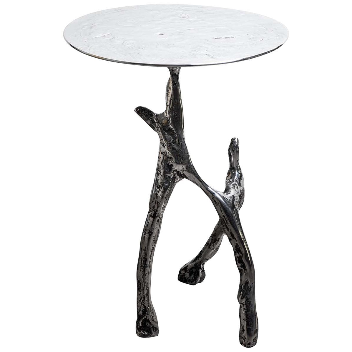 Cast Aluminum Scultura Side Table