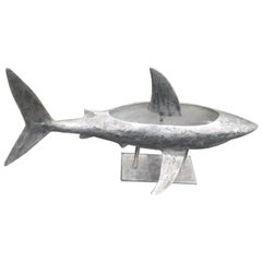Cast Aluminum Shark Ice Container and Server