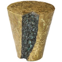 Cast and Fabricated Bronze End Table, by Silas Seandel