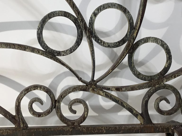 Cast and Wrought Iron Fireplace Screen For Sale 5