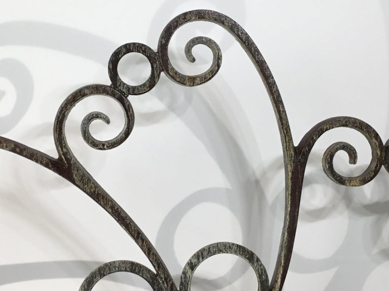 Cast and Wrought Iron Fireplace Screen For Sale 6