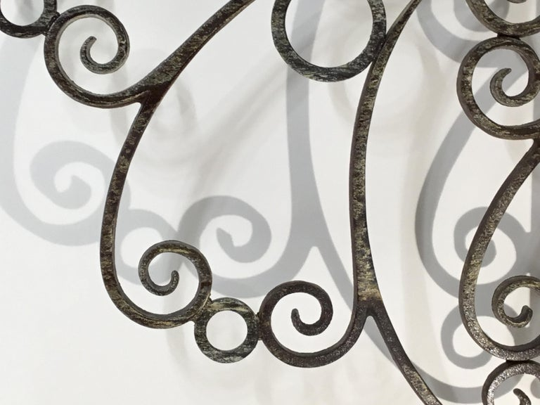 Cast and Wrought Iron Fireplace Screen For Sale 7