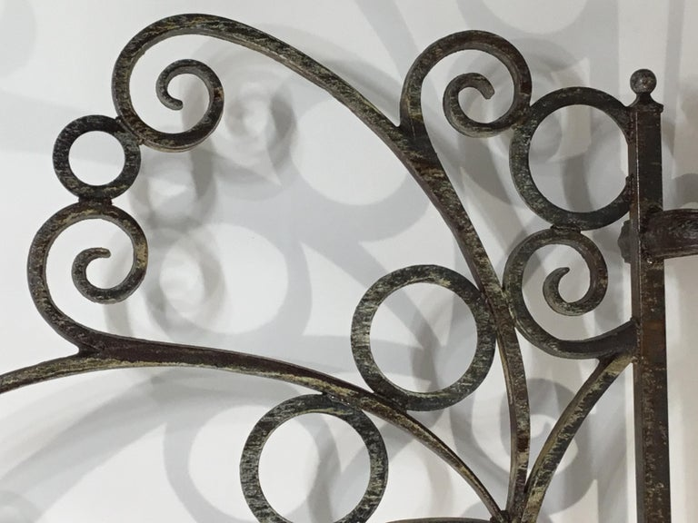 Cast and Wrought Iron Fireplace Screen For Sale 10