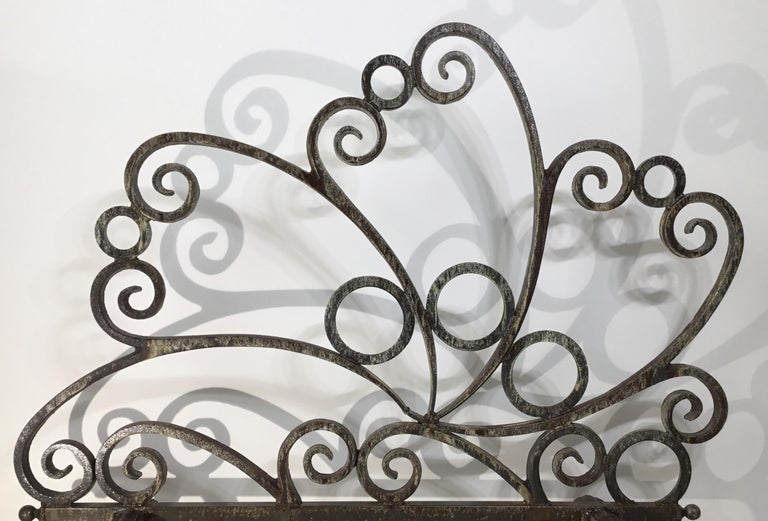 Cast and Wrought Iron Fireplace Screen For Sale 3
