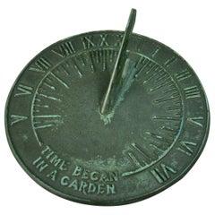 Cast Brass Garden Sundial