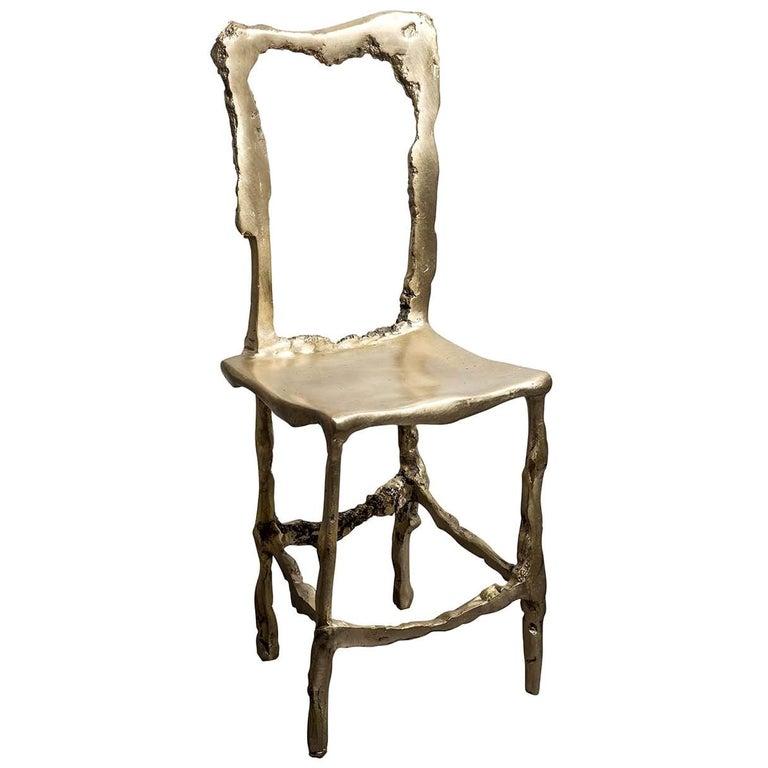 Cast Brass Scultura Decorative Chair For Sale